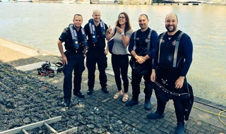 Police divers find engagement ring during training exercise