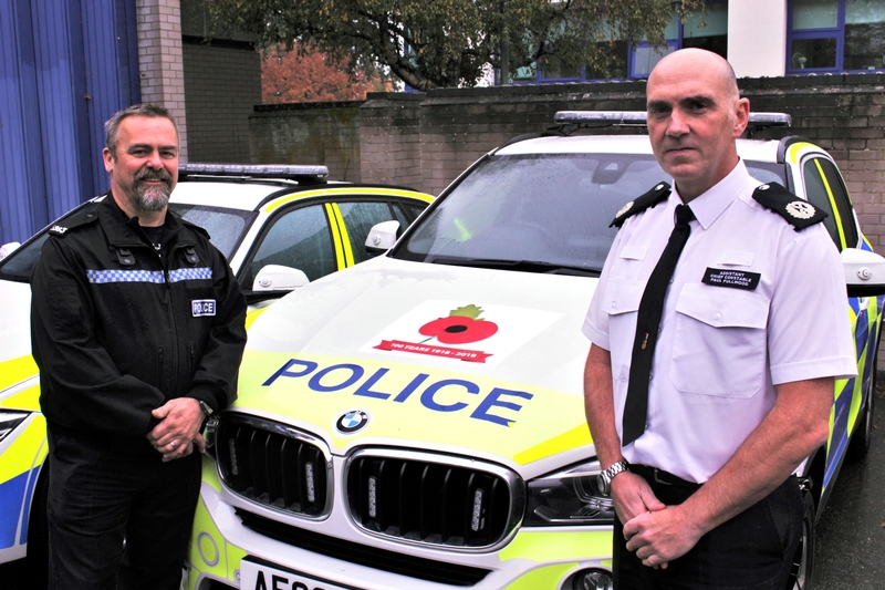 (L-R) PC Mark Fairclough and Assistant Chief Constable Paul Fullwood (PA)