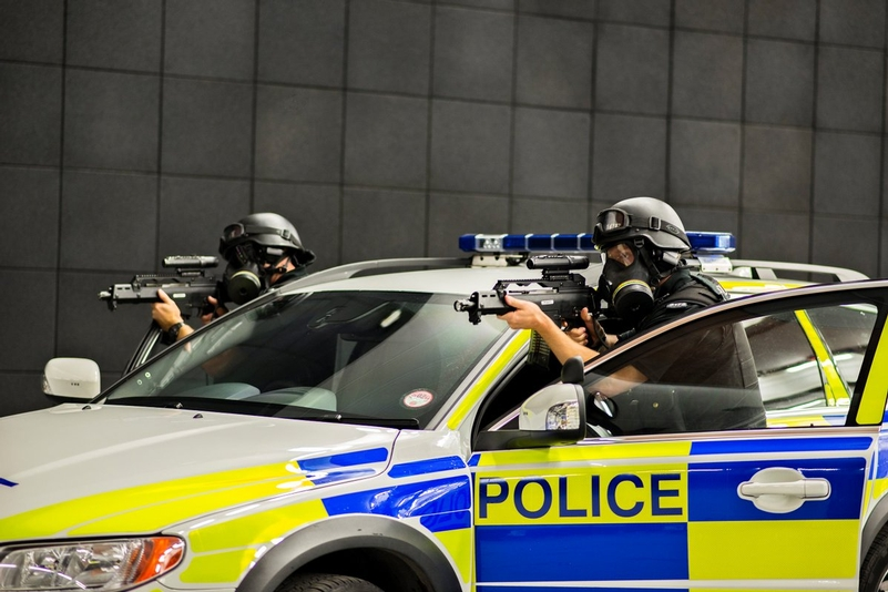 File photo of Northumbria Police firearms training