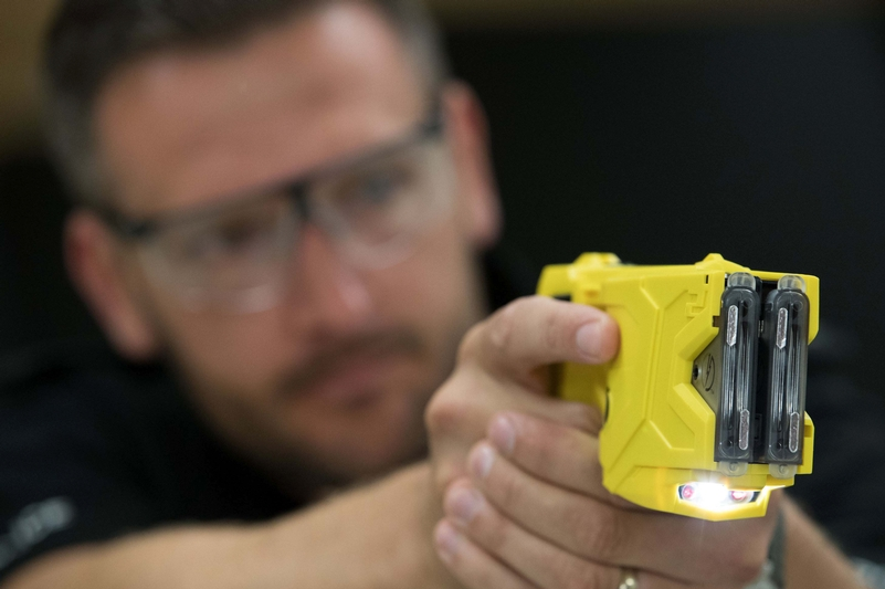 Only 10 per cent of incidents lead to a Taser being discharged