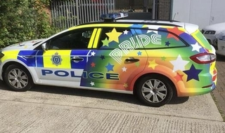 Force's rainbow car 'not gay enough'