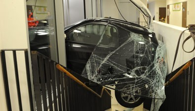 Driver Reversed Into Classroom - Cops