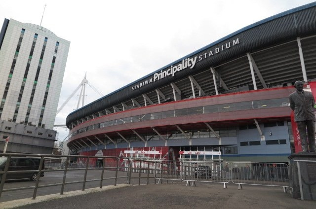 The Principality Stadium in Cardiff (@cafefootball)