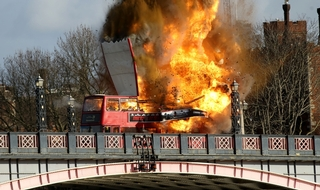 Bus blows up in London