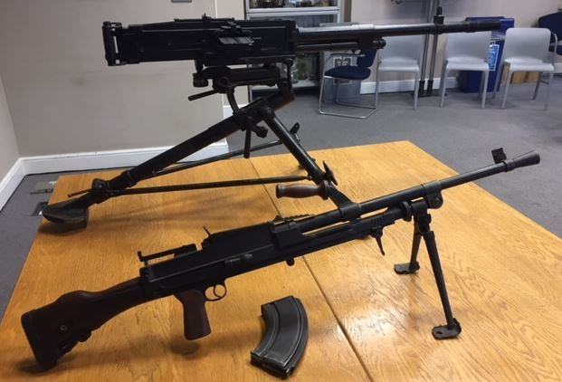 Two deactivated Second World War machine guns handed in to Westminster Police Station