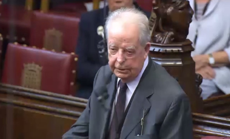 Peter Imbert pictured in the House of Lords in 2015