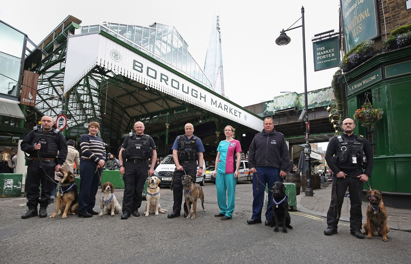 Borough Market: The police dogs and their handlers returned to the scene of one of the attacks as the awards were announced
