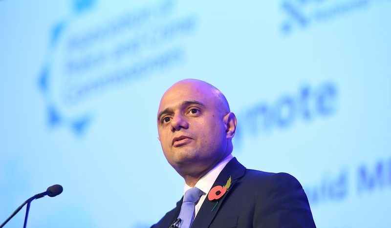 Home Secretary Sajid Javid speaking today at the NPCC & APCC Joint Summit (PA)