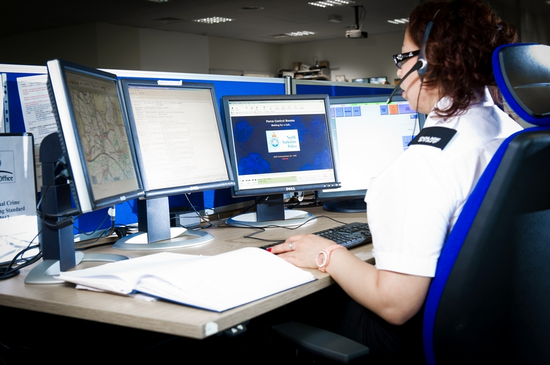 North Yorkshire's control room where APD software is used