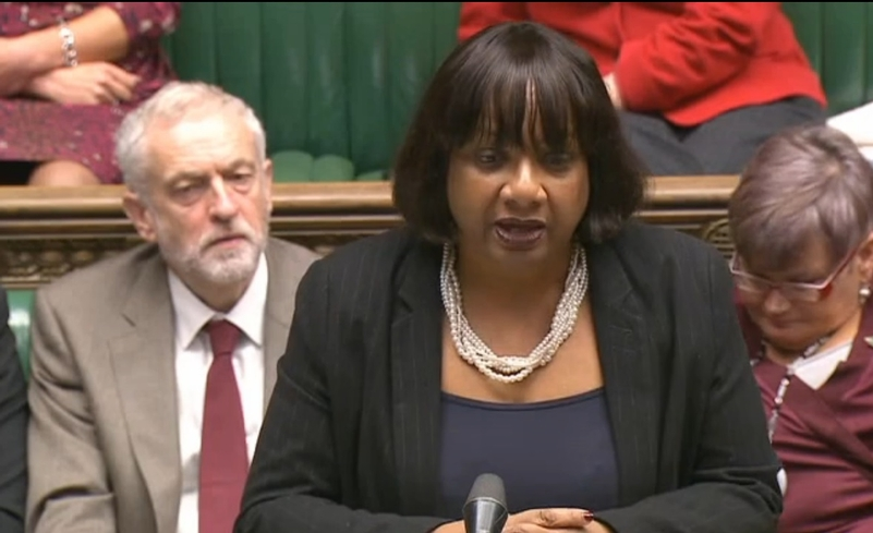 Shadow Home Secretary Diane Abbott