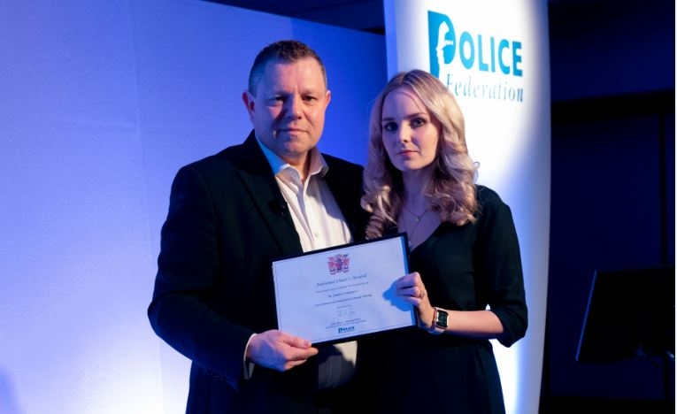 Chairman of the Police Federation John Apter and Lissie Harper
