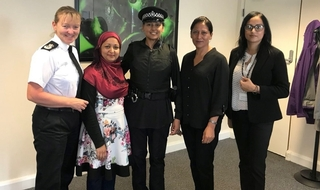 PC Firzana Ahmed with CC Dee Collins and colleagues