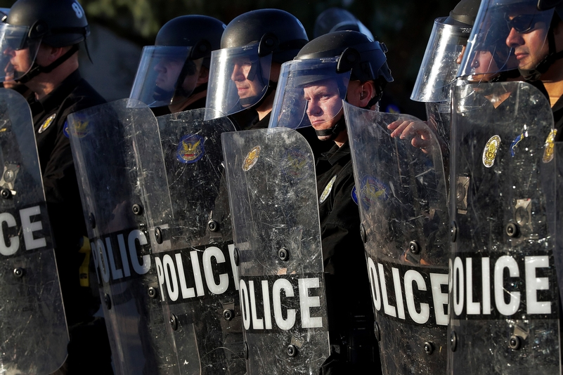 US riot police