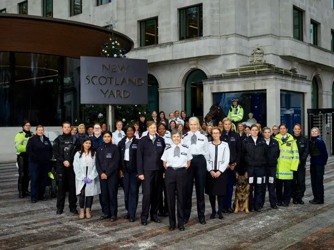 The Commissioner and fellow officers mark 100 years of women in the Met