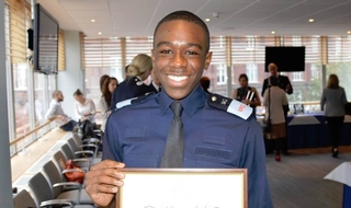 Cadet commended for burning building rescue