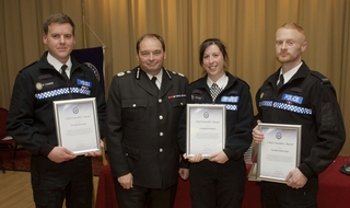 PCs awarded for burning building heroics