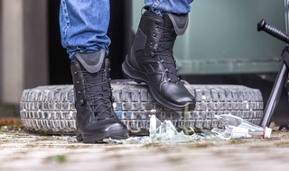 A lightweight and durable boot for police on the move