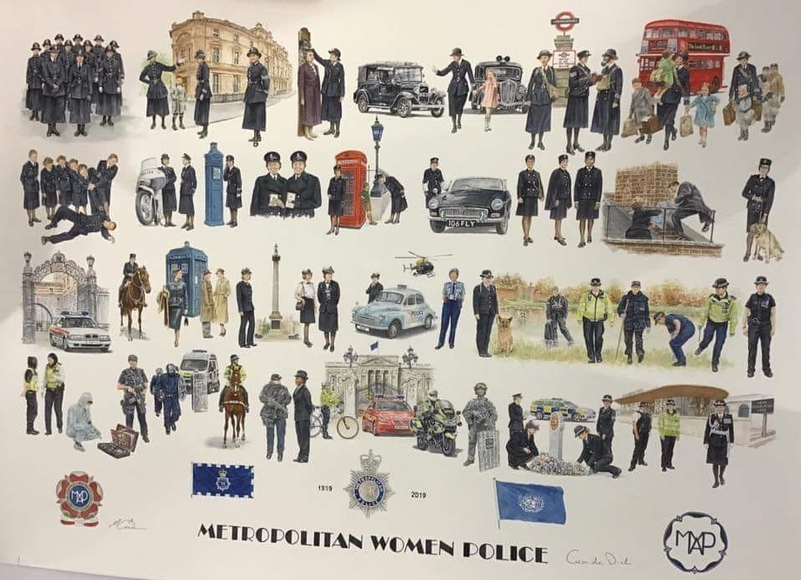 Print celebrates 100 years of women in the Metropolitan Police
