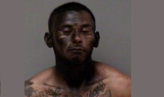 Man spray painted face to hide from police
