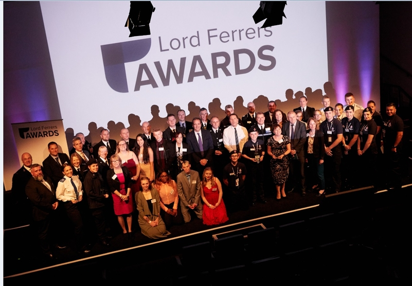 All the Lord Ferrers Award winners in 2018, with Policing Minister Nick Hurd