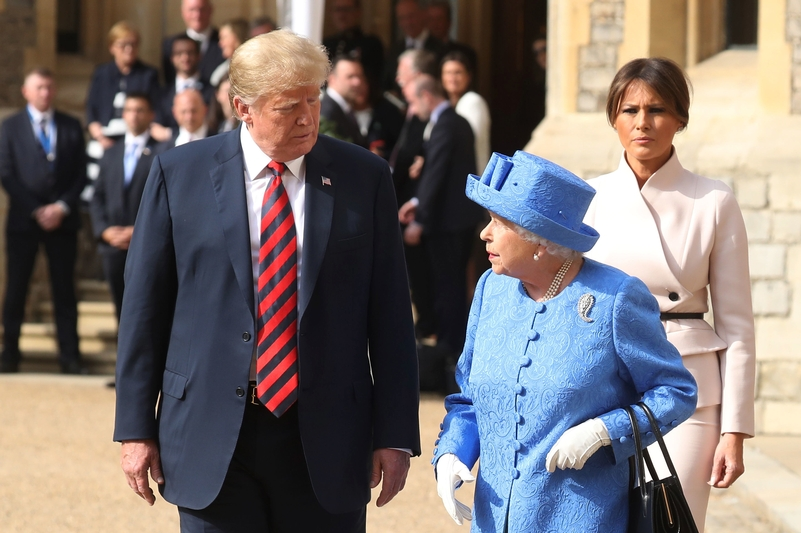 Donald Trump meeting HRH Queen Elizabeth II