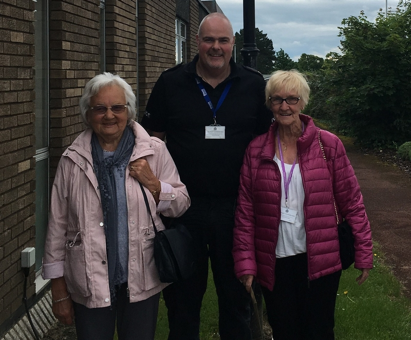 Fond farewell: Betty Wood and Joan Potts have known PC Ian Craggs for more than 20 years through their involvement with what is now known as the PACT team