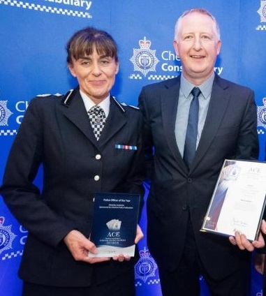 Winner: PC Nick Anderton with DCC Julie Cooke
