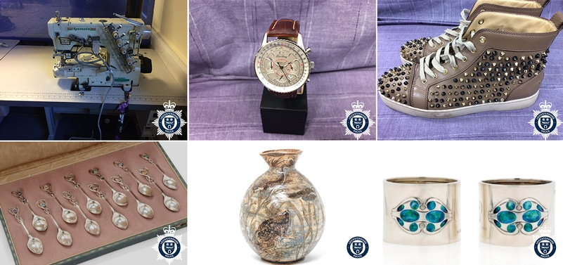 Criminal spoils: Some of the items that have helped accrue £1.7 million from the Leicestershire force eBay site