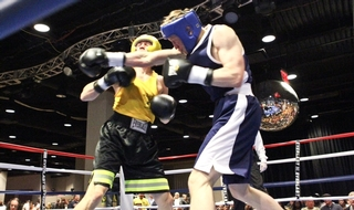 Boxing clever: Off duty police sport benefitting charity, community and officers