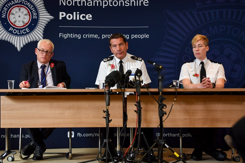 Chief constable Nick Adderley with Superintendent Sarah Johnson at the press conference