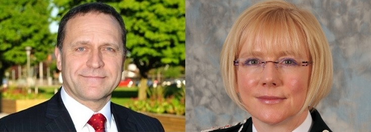 PCC Keith Hunter and CC Justine Curran