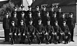 David Baldwin, second row, fifth from the left, during his time at Staffordshire Police