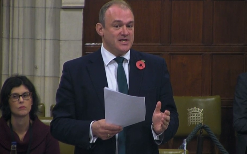 Sir Edward Davey, pictured last year