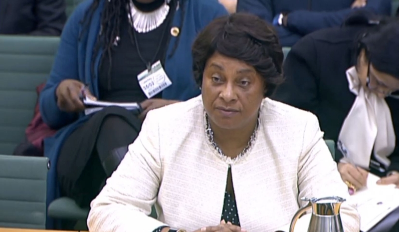 Baroness Lawrence giving evidence to Home Affairs Select Committee