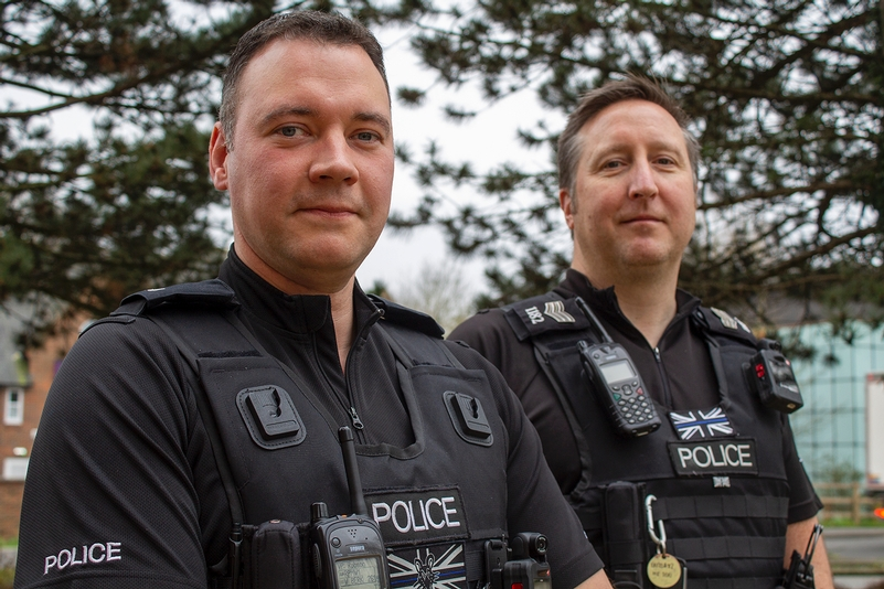 PC Matthew Robson and PC Matthew Hunt (left to right)