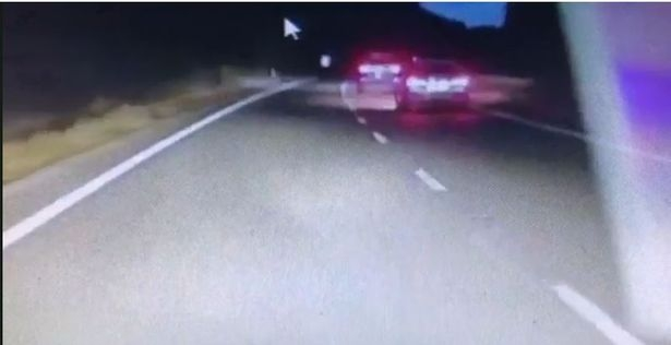 Get out of the way: Drivers had to flash the lane hog to get out the way