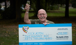 Retired police officer scoops £250k with winning lottery ticket