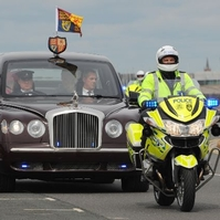 Policing's Mr Road Safety rides into retirement sunset in front of world leaders