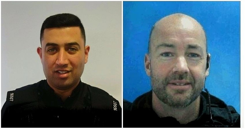 GMP PC Mohammed Nadeem and Suffolk PC Stephen Vaughan