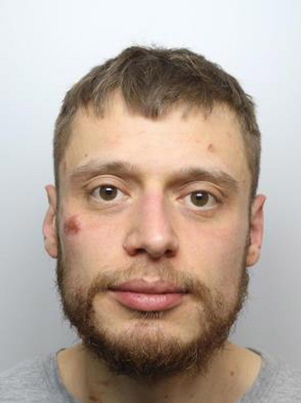 Perverted attack: Luca Jelic, naked from the waist down, jailed for sexual assault on a female officer