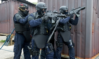 A national armed police force had been considered by government. (File photo of Northants officers during an exercise.)
