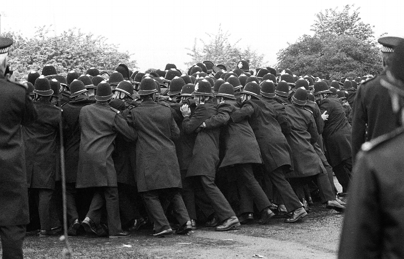 Policing the Miners' Strike of 1984. Photo: PA Wire