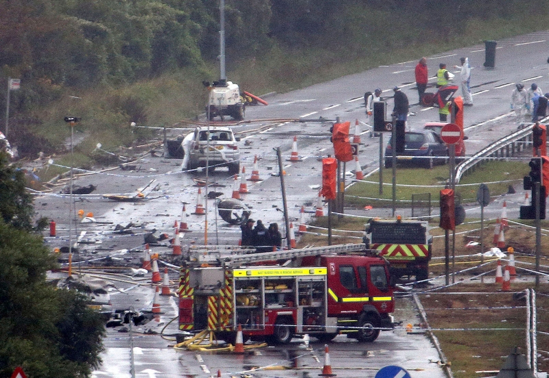 Fireball: 11 people died in the Shoreham air disaster including former Hampshire officer Mauirece Abrahams, below
