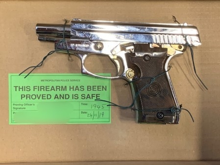 Firearm recovered during the operation