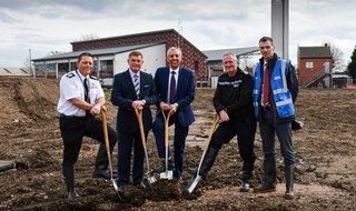 Derbyshire police and fire celebrate start of new station development