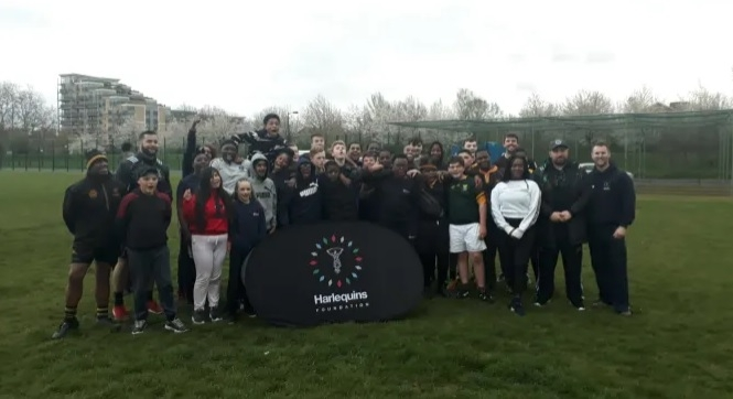 Teamwork: The Met is delivering Project Rugby in partnership with the Harlequins Foundation