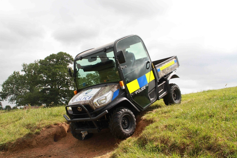 Marked ATV for rural policing duties
