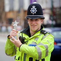 Officer commended for driving away boy racers