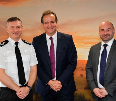 Lincolnshire Chief Constable Bill Skelly, Minister for Policing Nick Hurd and PCC Marc Jones met earlier this year to discuss the force's funding problems