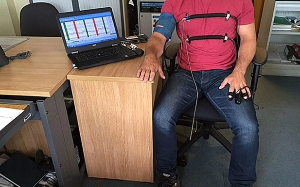 Polygraphy tests monitor a suspect's heart rate, blood pressure and sweat (PA)